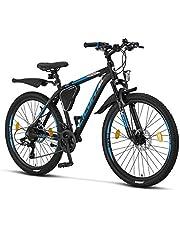 Licorne Bike Effect Premium mountainbike aluminium schijfrem/V-rem fiets voor jongens, meisjes, heren en dames - 21 versnellingen - herenfiets