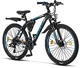 Licorne - Mountain bike Premium per bambini, bambine, uomini e donne, con cambio 21 marce, Bambina,...