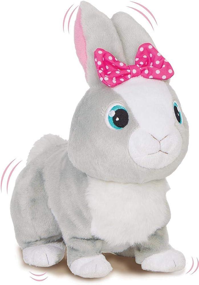 Imc toys betsy club petz coniglietta paurosa, betsy, reagisce ai suoni camminando e muovendo le orecchie 95861