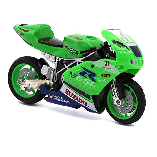 fedsjuihyg Motorrad-Modell-Motorrad-Spielzeug Racing Motorrad-Legierung Auto Spielzeug, Dekoration, Geschenk Für Kinder Jungen Kinder Kollektion Zufällige Farbe Spielen Mit Kindern