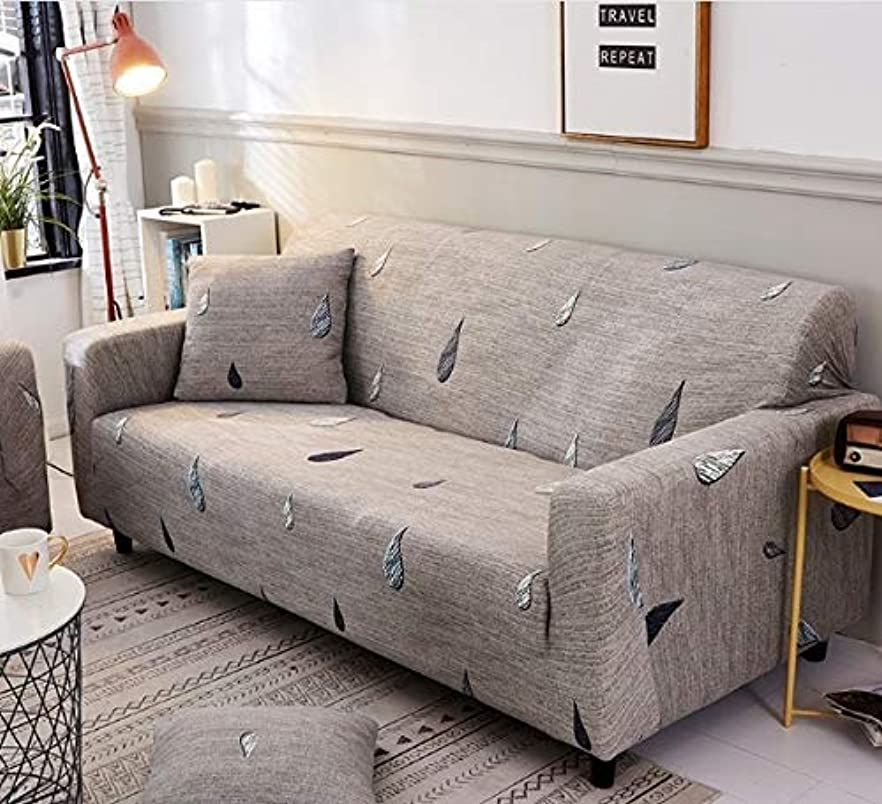 もう一度付き添い人前文WTYD ホームテキスタイル ソファカバー包括的な滑り止め断面弾性フルソファカバーソファカバーと枕カバー、仕様:Two Seat2 + PC枕ケース(レモン) 家庭用 (色 : Raindrop)