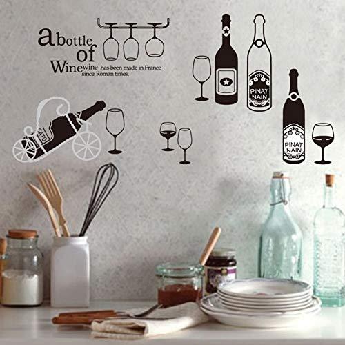 TAOYUE glazen fles muurschildering kunst wooncultuur rode wijn muursticker keuken wandtattoos Tv Sofa Decor behang wandschilderij feestgordijn