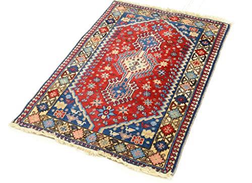 Cristina Carpets Teppich Oriental YALAMEH 62 x 90 cm Geometrisch geschnitzt in Mano Vello und Trame aus Wolle