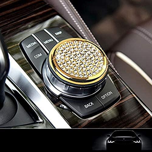 YFBB 2 Botones de Control Botones de Control Cubiertas del Panel de Control Multimedia Visores Interiores Decoraciones Cristal Brillante, para BMW 1 3 4 5 7 Serie X1 X3 X4 X5 X6 2013-2014