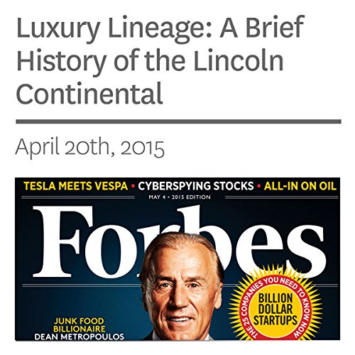 Luxury Lineage: A Brief History of the Lincoln Continental audiobook cover art