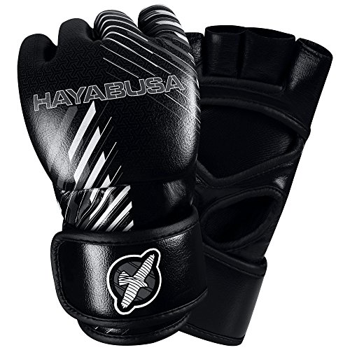 Hayabusa Ikusa Charged 4 oz MMA Gloves, Black/Grey, 1X