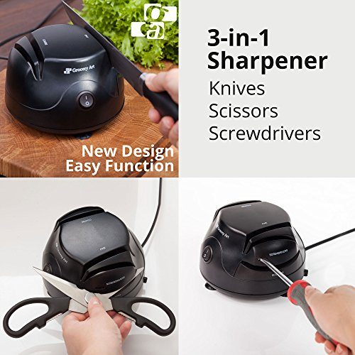 Electric Knife Sharpener Tool 3-in-1 -...
