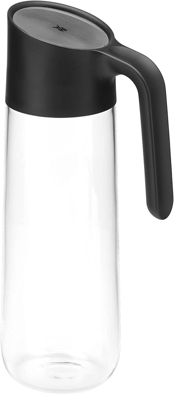 WMF - Jarra de agua Nuro de cristal con asa, de 1,0 l y 29,7 cm de altura, cierre CloseUp, color negro