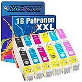 Juego de 18x tinta XXL para Epson te2431te2432te2433te2434te2435te2436platinumserie