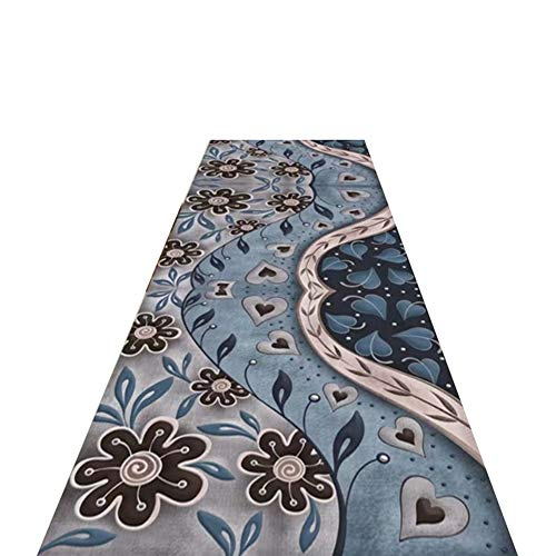 LIXIONG Hallway rug runner, Soft Microfiber Area Rug, Traditional Cozy runner rug, with Non-slip Backing for Bedroom Entry, Custom Sizes (Color : A, Size : 1x4m)