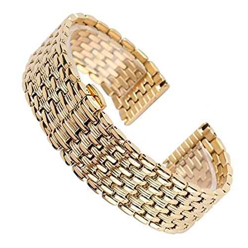 ZJSXIA Correa de reloj de acero inoxidable de 18/20/22 mm, hebilla oculta ajustable + 2 barras de resorte correas de reloj (color: -, tamaño: 22 mm)