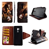 Brown Horse Wallet Case for LG G7 / LG G7 ThinQ/LG G7+ / LG G7+ ThinQ Folio Standing Cover Card Slot Money Pocket Magnetic Closure Fashion Flip Pu Leather