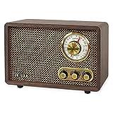 Victrola Retro Wood Bluetooth FM/AM Radio with Rotary Dial, Espresso