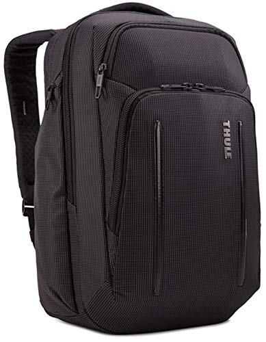 Thule Unisex's Crossover 2 Travel Backpack, Black, 12.6 x 9.4 x 18.5 in