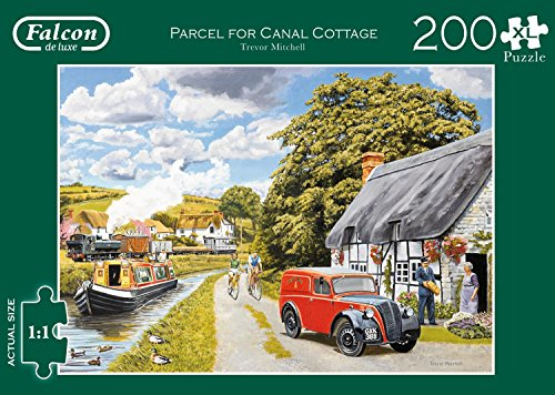 Jumbo 11214 Falcon de Luxe-Parcel for Canal Cottage 200 Extra Large Piece Jigsaw Puzzle