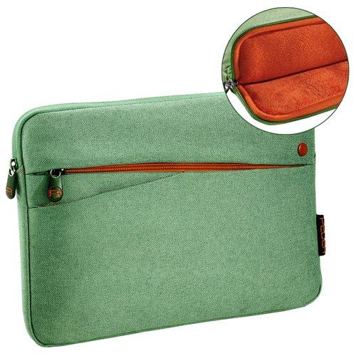 Pedea Tablet PC Tasche Fashion für 10,1-11 Zoll (25,6-27,96 cm) Schutzhülle Etui Hülle mit Zubehörfach, grün