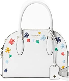 Reiley Raffia Medium Dome Shoulder Satchel, Bright White
