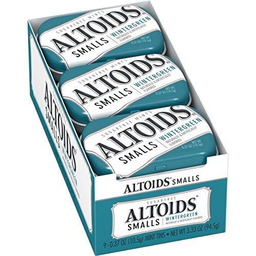 Altoids Smalls Wintergreen Sugarfree Mints, 0.37 Ounce (9 Packs)