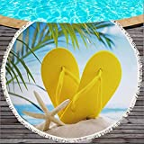 Summer Beach Fruit Print Series Toallas De Playa Redondas, Mantas De Playa De Microfibra, Tapetes De Playa De Secado Rápido A Prueba De Arena 150 * 150cm