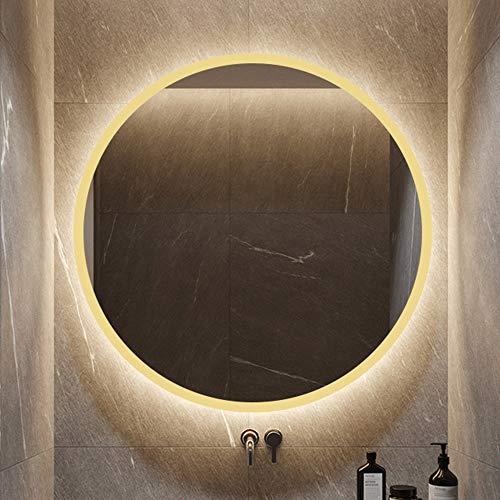 Flashing lights badkamerspiegel, rond, anti-deflatie spiegel, met glanzende spiegel voor wandspiegel met LED-spiegel voor badkamer met spiegel en intelligente spiegel, geschikt voor de decoratie van hotel