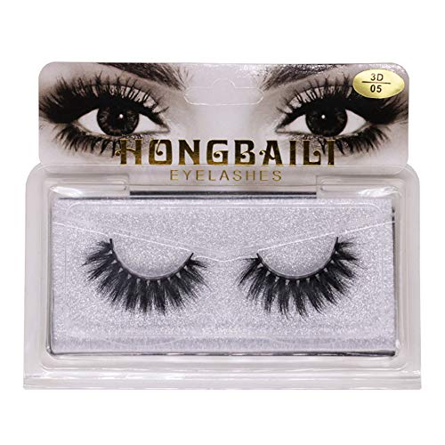 Bodhi2000 3D False Eyelashes Synthetic Fiber Long Curly Thick Grafting Lashes Extension Make Up Tools 5