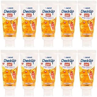 ライオン 歯科用 チェックアップジェル 10本 歯磨き粉 レモンティー 60g