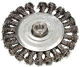 KOTARBAU® Cepillo de disco de 125 mm con rosca M14, alambre trenzado para amoladora angular