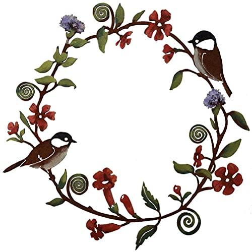 Dapuly Guirnalda de pájaros teñidos a mano para colgar en la pared o en la puerta de casa, guirnalda colgante para obras de arte para ventanas y granjas.