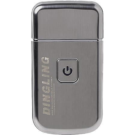 KEMEI メンズ電気シェーバー ひげ剃り 往復式ブレード 急速充電 ミニ コンパクト USB充電 薄型 グレイ M-5088-DL