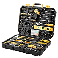 QUALITY:Forged from steel and finished in high-polish chrome.This 196 tool kit provides strength, durability and anti-corrosion protection exceeding ANSI critical standards ADAPTABILITY:Multi-function and wide use toolbox kit perfect for home DIY pro...