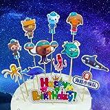 Topper de Tarta - XCSW Criaturas del mar Decoración para Pasteles Set, Fiesta de Cumpleaños DIY Decoración Suministros, Decoraciones para Tarta fiesta de cumpleaños de niños,44pcs