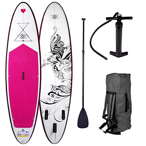 BRAST Stand Up Paddle Paddling SUP Board 2 Modelle Kolibri 300x76x15cm aufblasbar Alu-Paddel Pumpe Rucksack gewebtes Drop-Stitch 115KG
