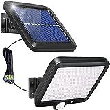 YUNYODA Luz Solar de Exterior,Foco LED Exterior con Sensor Movimiento PIR Foco LED Sensor Impermeable luz de pared exterior de panel solar Lámpara Solar Para Jardín, Garaje Hotel, Patio (1 pieza)