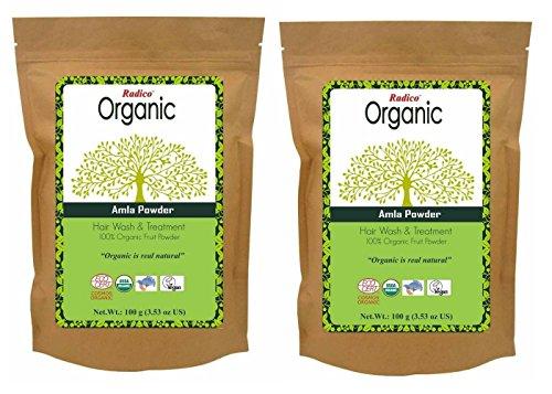 Radico Amla vruchtpoeder 2 stuks (2 x 100 g) Emblica Officinalis (bio, vegan) x2