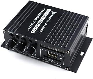 Gecheer AK370 12V Mini Audio Power Amplifier BT Digital Audio Receiver AMP USB Memory Card Slot MP3 Player FM Radio LCD Di...