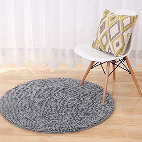 JWANS Runder Teppich Dicker weicher Chenille Einfarbig Schlafzimmer Küche Teppiche Badezimmer rutschfeste Bodenmatte