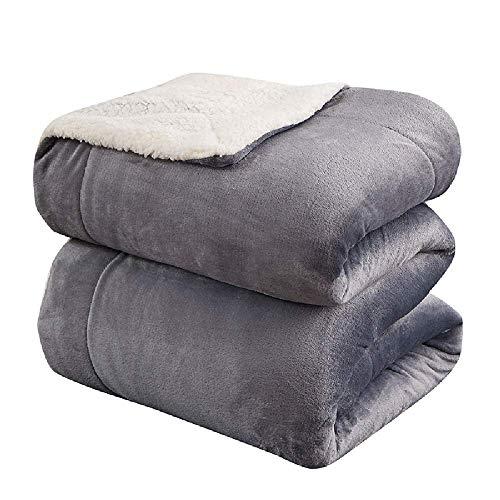 THANGYManta de Cachemira de Fibra extrafina, Manta Doble, Manta cálida de Franela Suave y esponjosa, se Puede Utilizar como sábana de 200 * 230 CM