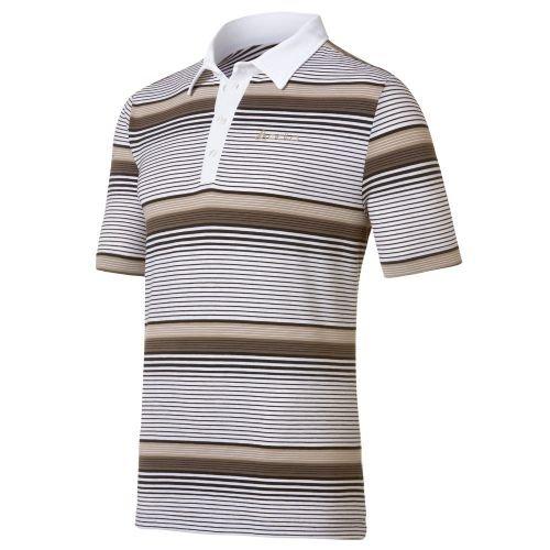 Odlo Polo Shirt s/s Custom Homme, Stripes Enamel Blue-Oyster Gray, s