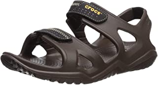 crocs 男式 swiftwater RIVER M 渔夫儿童拖鞋
