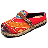 Minetom Walking Slip-On, Sandalias Mules para Mujeres Zapatos De Playa Coloridos Bordados Ocio Al Ai...