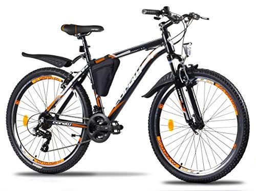 Corelli Desert Mountain-Bike 29 Zoll 27,5 Zoll 26 Zoll mit Aluminium-Rahmen, Shimano 21 Gang-Schaltung & Gabelfederung als Herren-Fahrrad Damen, Jungen-Fahrrad Mädchen, Kinder-Fahrrad