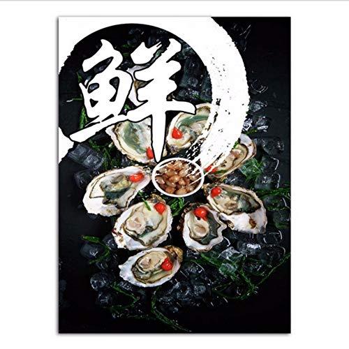 Djkaa Chinese stijl schilderij print canvas Sichuan keuken museum decoratie afbeelding peper Chinese lettertekens met lijst