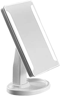 Portable Size LED Desktop Makeup Mirrors Professional Bathroom Bedroom 360 Degree Rotation Countertop Mirrors