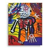 Cuadro acrílico sobre lienzo pintado a mano 24 x 30 arte moderno - título de la obra 'El chico solitario'