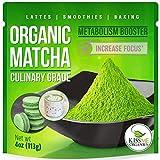 Té verde matcha en polvo - Potente antioxidante japonés matcha orgánico de grado culinario - 4...