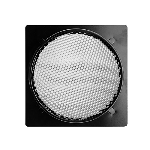 Pergear Barn Door with 6 Inch Honeycomb Grid, 4 Color Gel Filters (Red Blue White Orange) and PERGEAR Cleaning Kit for Bowens Mount Studio Video Light
