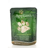 Applaws アプローズ キャットフード 鶏の胸肉とアスパラガスのブイヨン(ブイヨン) 猫用 70g