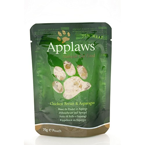 Applaws Chicken & Asparagus Pouch 70G, Pack of 1