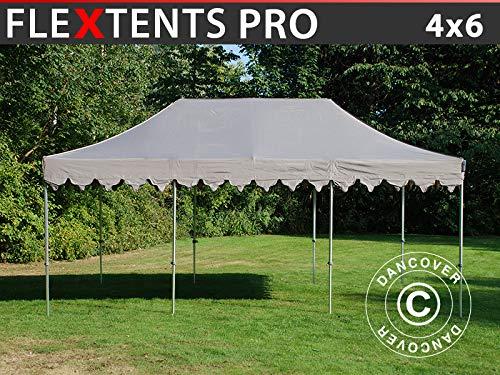 Dancover Pop up gazebo FleXtents Pop up canopy Folding tent PRO Morocco 4x6 m Latte