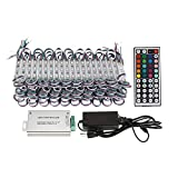 WICHEMI Storefront Lights 100ft 200 Pieces 3 Led 5050 SMD LED Light Module Storefront RGB Window Strip Light Super Bright Waterproof Business Decorative Light for Store Advertising Signs